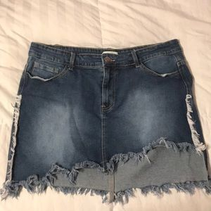 Forever 21 + jean skirt